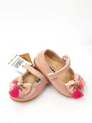 Vicco - Beaded Bow Ballet Shoes - Powde - Hanse shoes