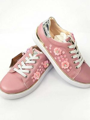 Vicco - Flower Detail Shoes - Pink - Hanse shoes