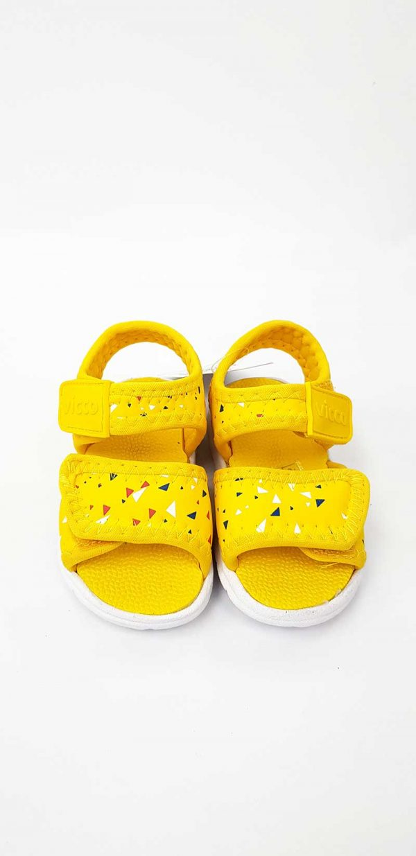 Vicco - Triangle Pattern Sandals - Yellow - Hanse shoes
