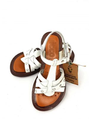 Vicco - Strappy Sandals - White - Hanse shoes