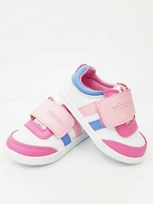 Vicco - First Step Shoes Girls- White Pink - Hanse shoes