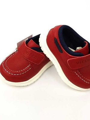 Vicco - Velcro Leather Shoes - Red - Hanse shoes