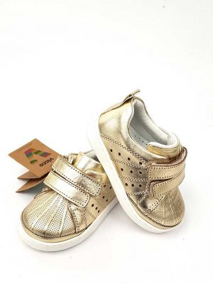 Vicco - Leather Baby Foot - Gold - Hanse shoes