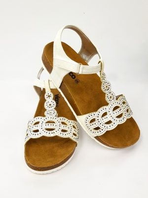 Vicco - Weave Pattern Sandals - Pearl - Hanse shoes