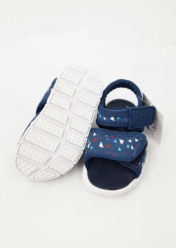 Triangle Pattern Sandals - Navy - Hanse shoes