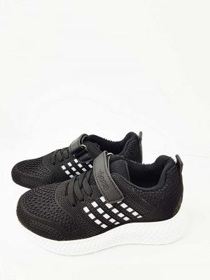 Lace-Up Sport Shoes - Black - Hanse shoes