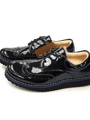 Glossy Oxford Shoes - Black - Hanse shoes