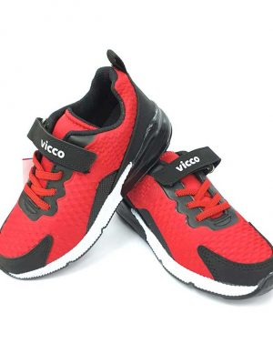 Lace-Up Velcro Sport Shoes - Red/Black - Hanse shoes